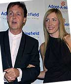 Paul McCartney With Heather Mills