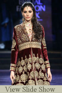 Nargif Fakhri was the show stopper for JJ Valaya on Day 6